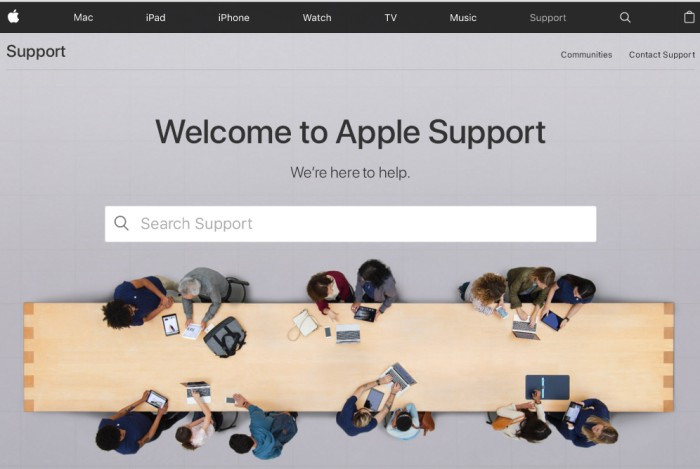 The Apple website has support information for refurbished Mac laptops and desktops.