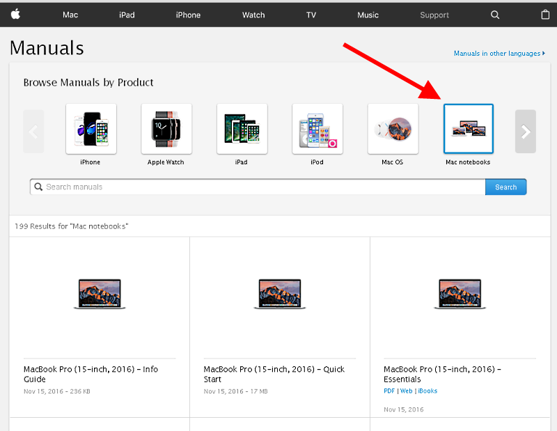 Manuals for each Mac can be found on the Apple website.