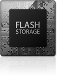 The Mid 2013 Macbook Air has all flash storage.